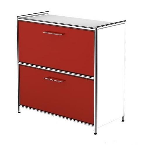 Sidboard Artline Schublade weiß rot