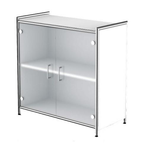 Sideboard Artline weiß Glas