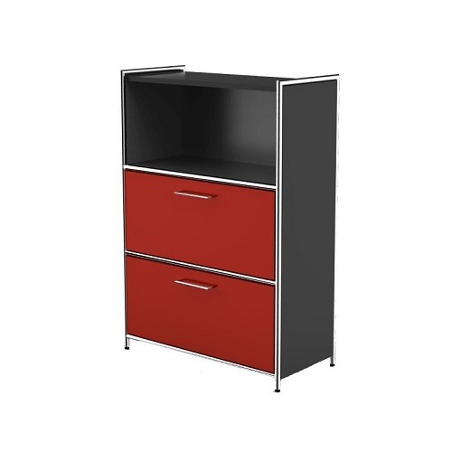Highboard Artline anthrazit rot
