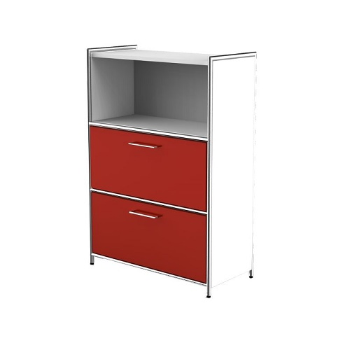Highboard Artline weiß rot
