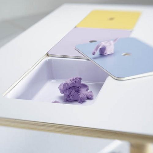 Tisch mit Tabletts Gonzagarredi Montessori