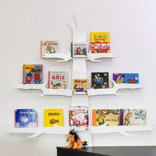 Bücherdisplay Baum weiß