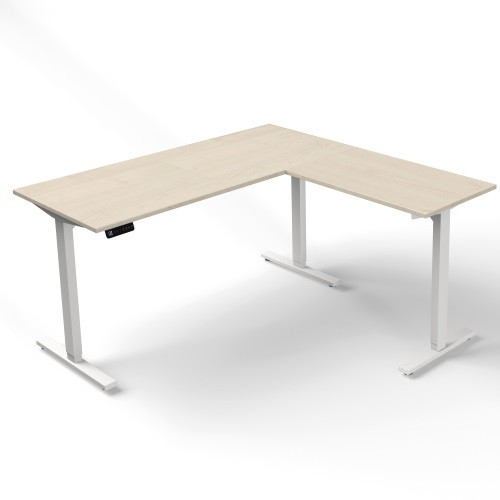 höhenverstellbarer Schreibtisch Move mit Anbautisch